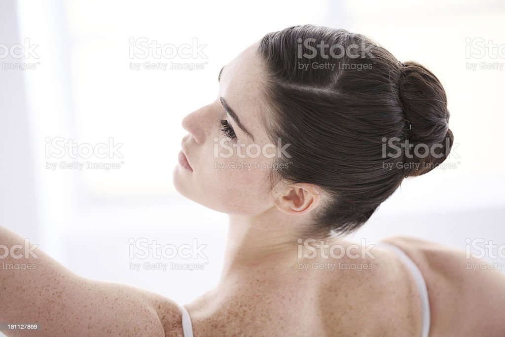 Pure determination royalty-free stock photo