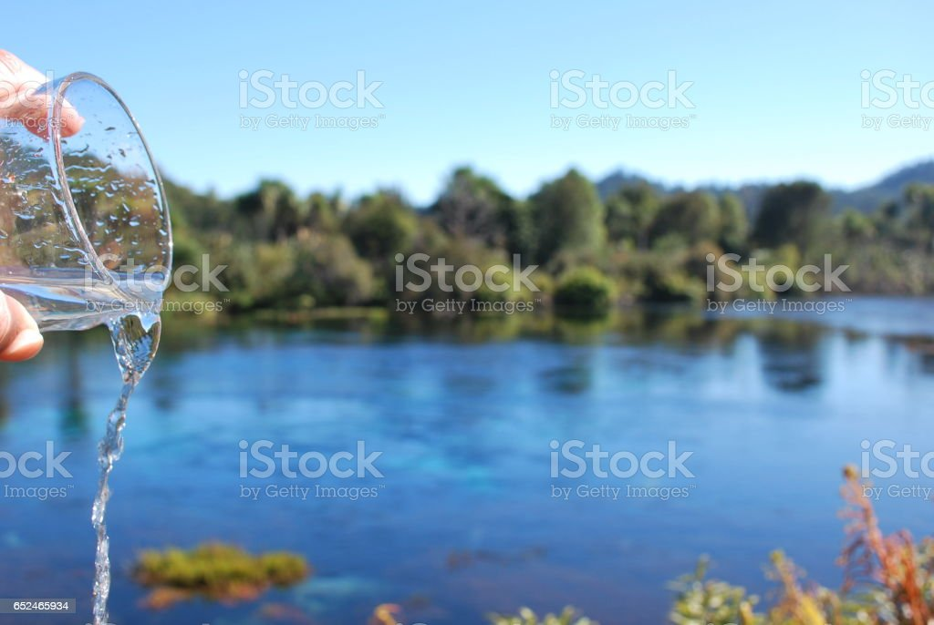 Pure Fresh Drinking Water stock photo