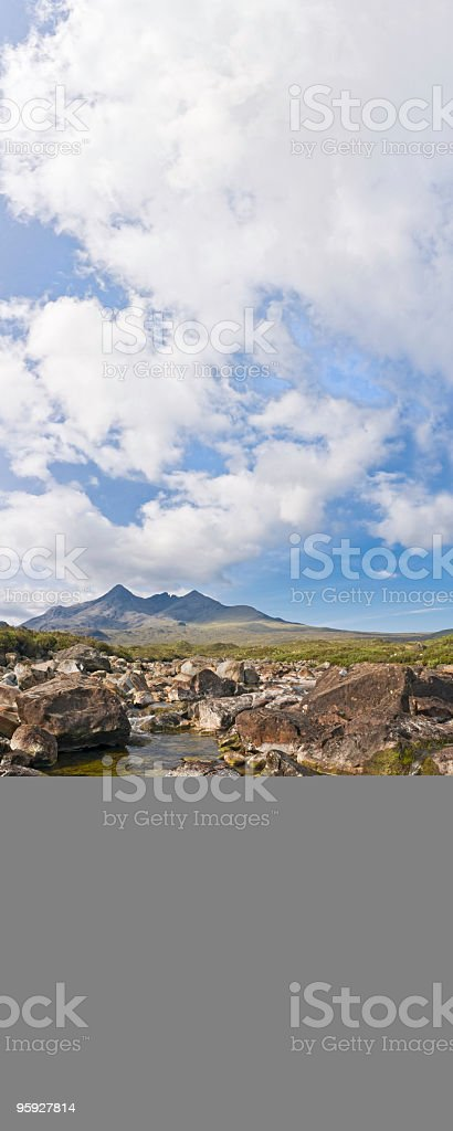Pure fresh mountain stream royalty-free stock photo