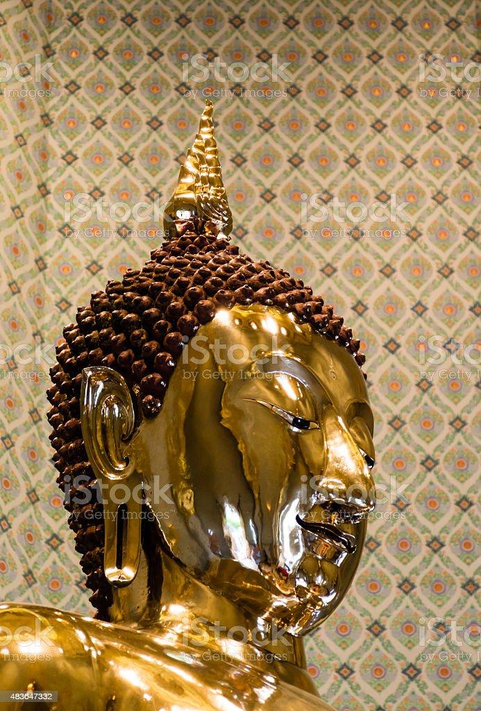 Pure Gold Buddha Image at Wat Traimit, Bangkok, Thailand stock photo