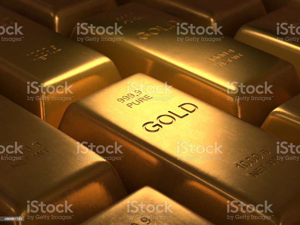 Pure Gold stock photo