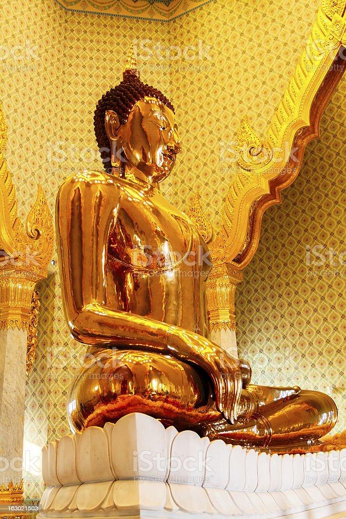 Pure Golden Buddha stock photo