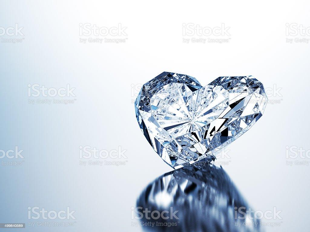 Pure Heart Diamond royalty-free stock photo