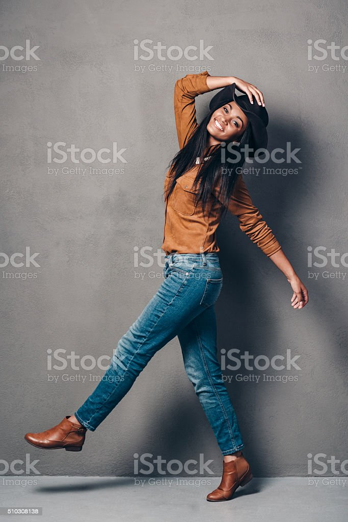 Pure joy and style. stock photo