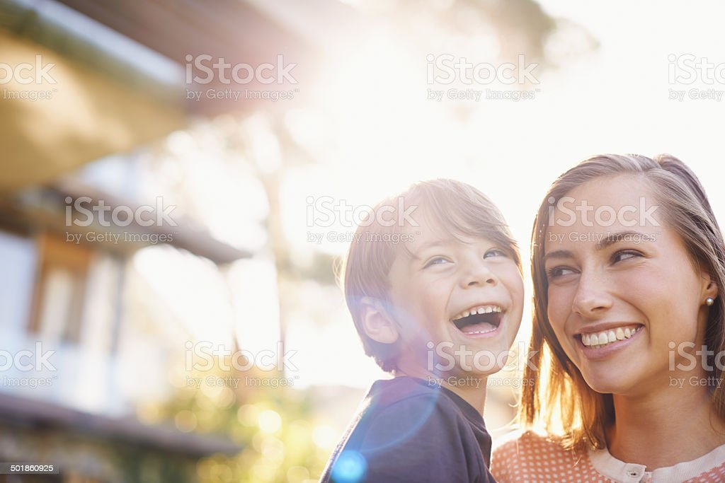 Pure joy stock photo