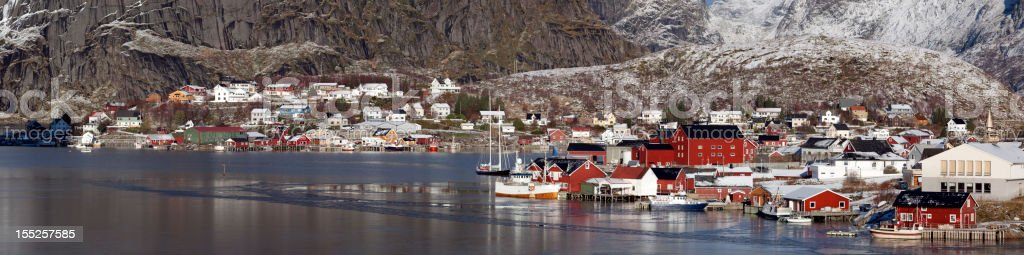 Reine, Lofoten Islands panoramic royalty-free stock photo