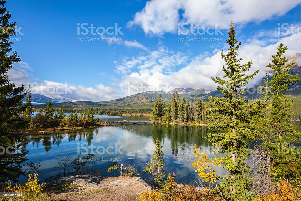 Pure morning air in the Rocky Mountains stock photo