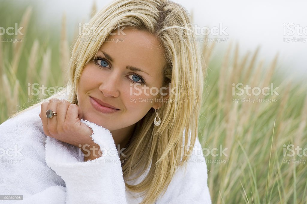 Pure, Natural, Beautiful Woman In a Health Spa Setting stock photo