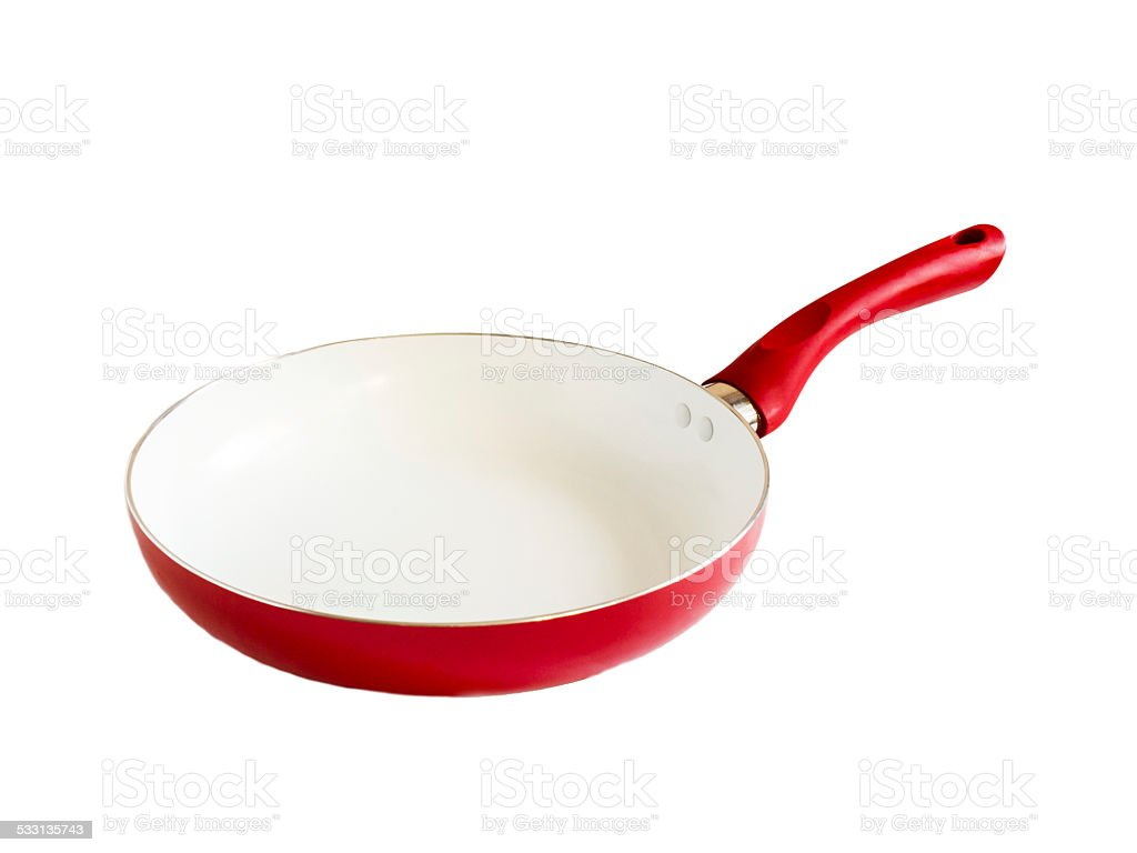 Pure new frying pan stock photo