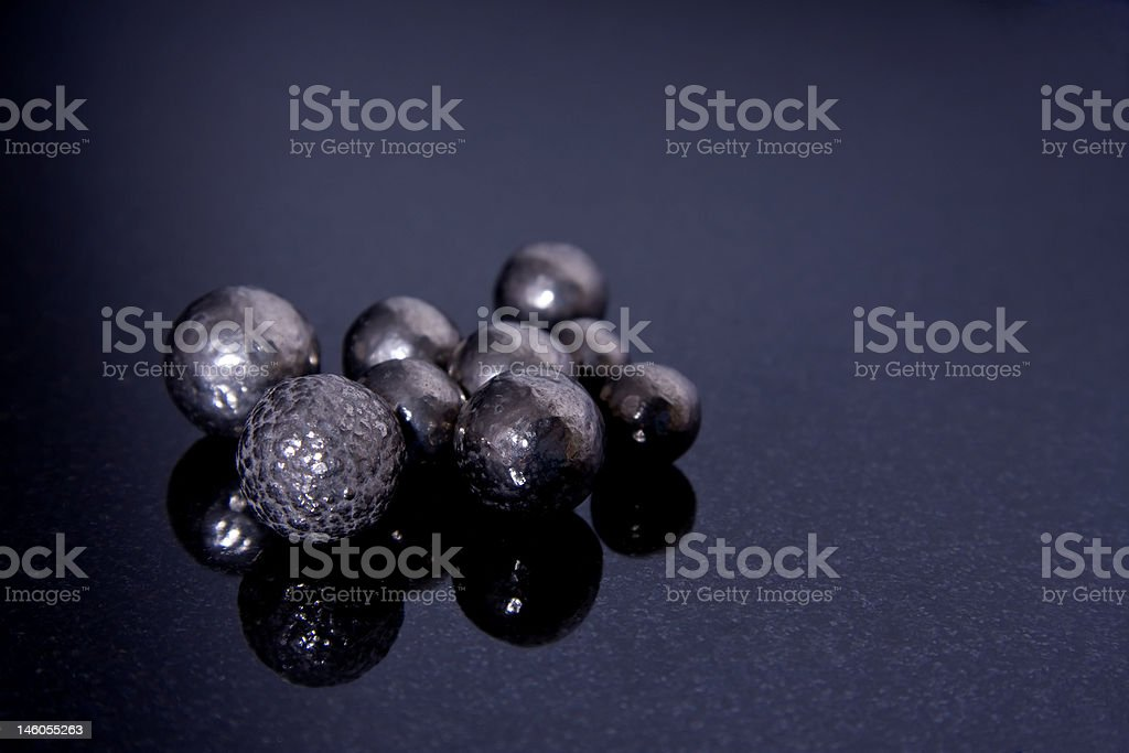 Pure Nickel Spheres royalty-free stock photo