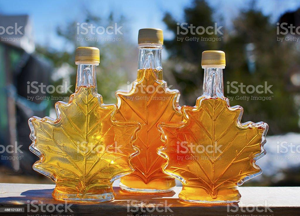 Pure Nova Scotia Maple Syrup stock photo