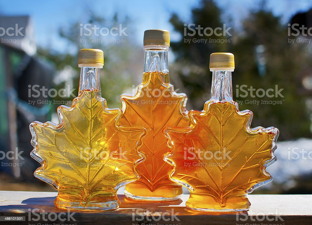 Pure Nova Scotia Maple Syrup stock photo