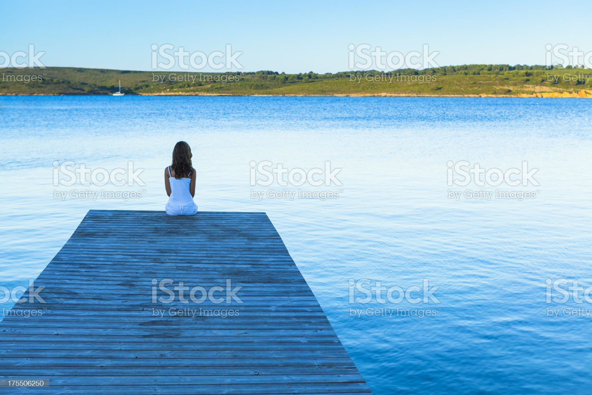 Pure relax by the Mediterranean royalty-free stock photo