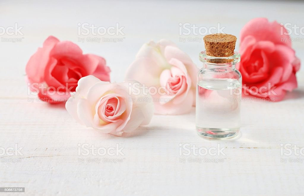Pure rose water stock photo