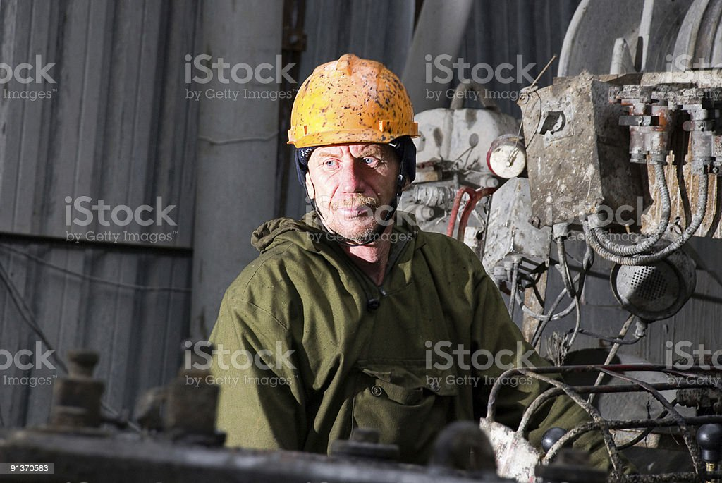 Pure russian driller stock photo