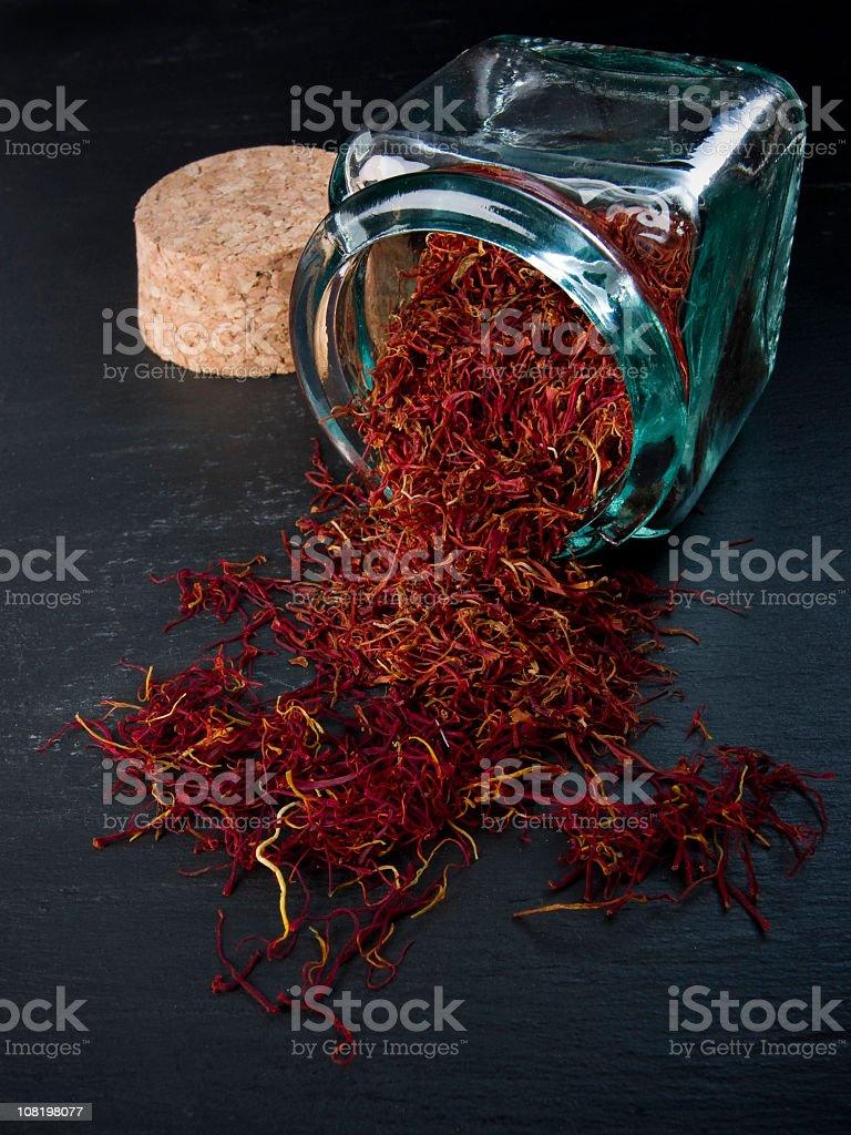 Pure saffron stock photo