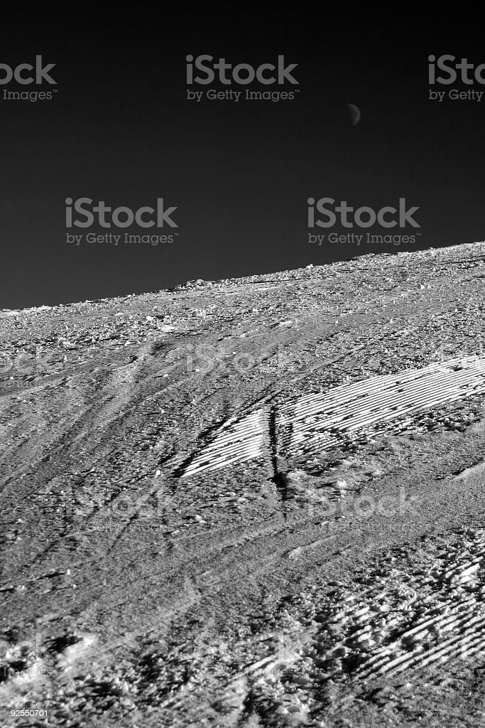 Pure Slope BW royalty-free stock photo