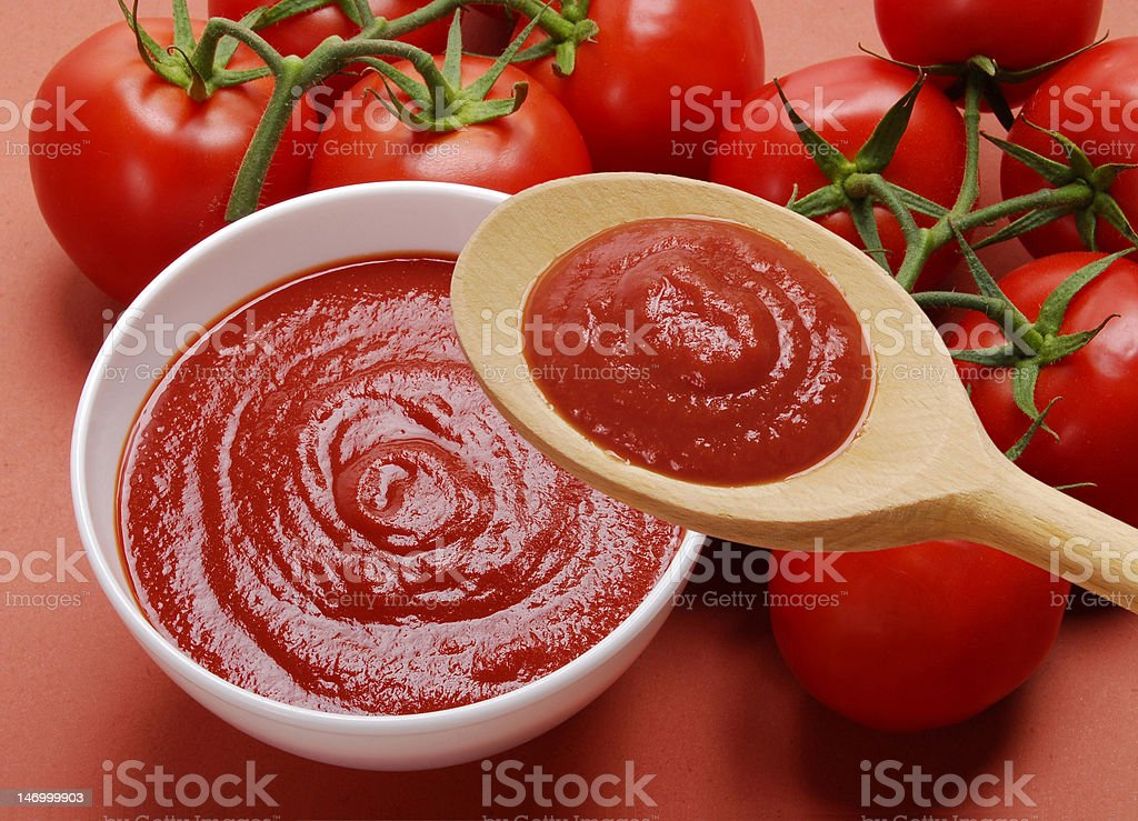 Pure tomatoes taste. stock photo
