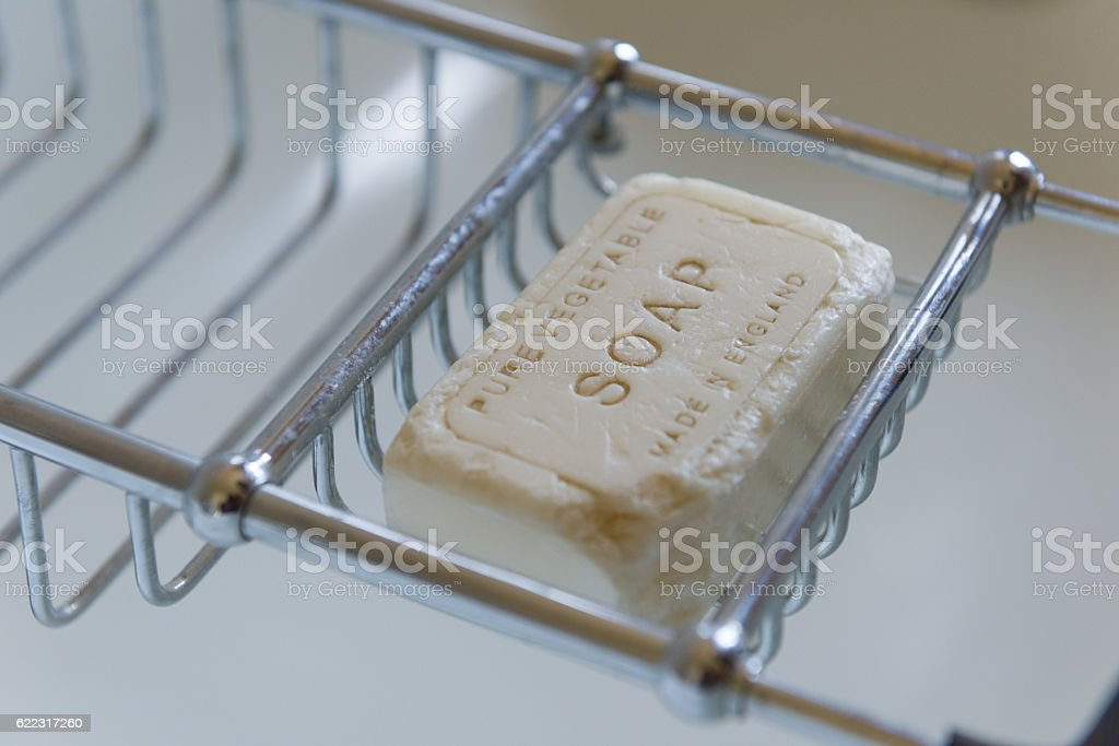 Pure vegetable English vintage soap stock photo