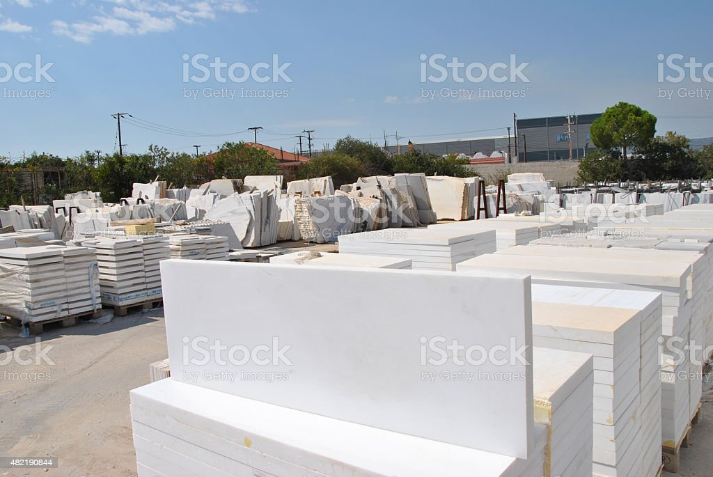 Pure white marble Marble Production stock photo