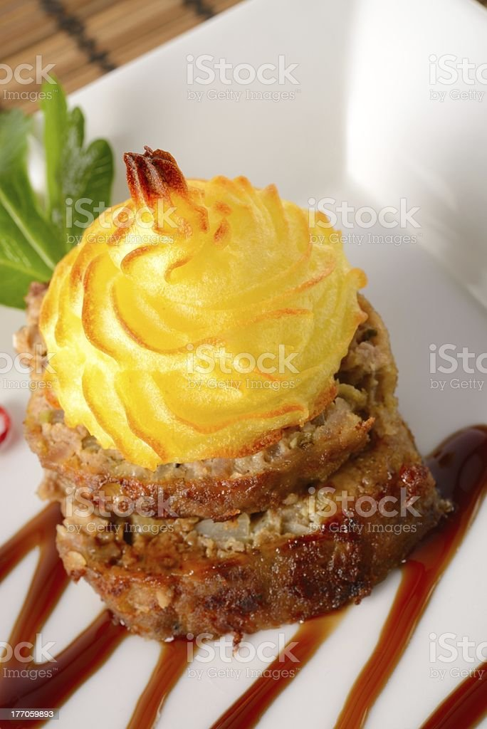 puree potato with mince brown royalty-free stock photo