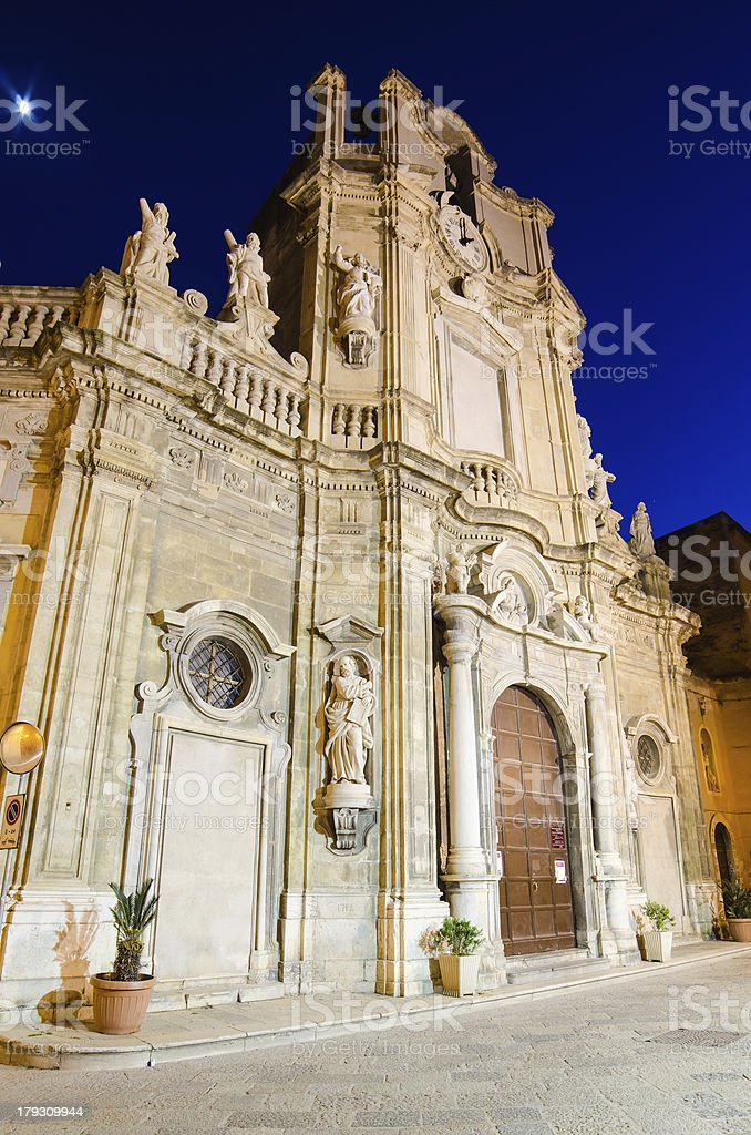 Purgatorio Church in Trapani, Sicily royalty-free stock photo