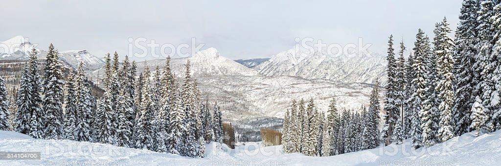 Purgatory Resort Snowy Panorama stock photo