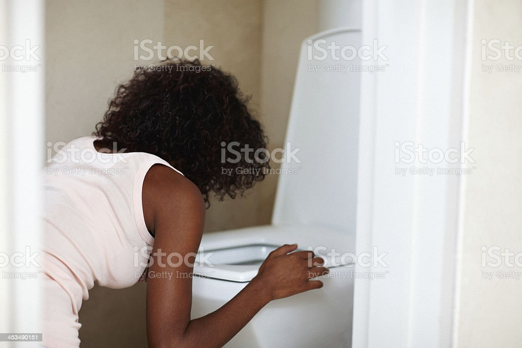 Purging herself - Bulimia/Anorexia royalty-free stock photo