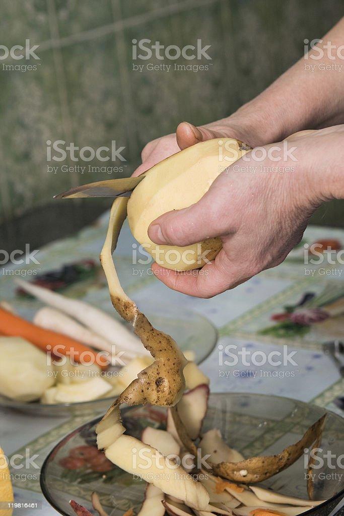 Purification of potato stock photo