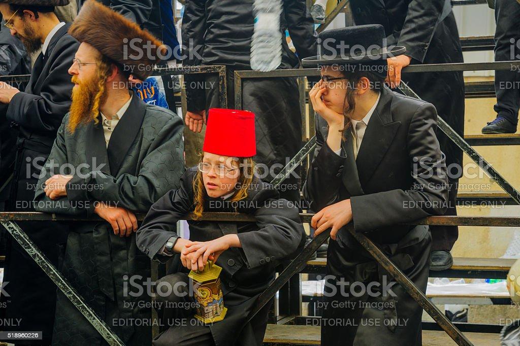 Purim 2016 in Jerusalem stock photo