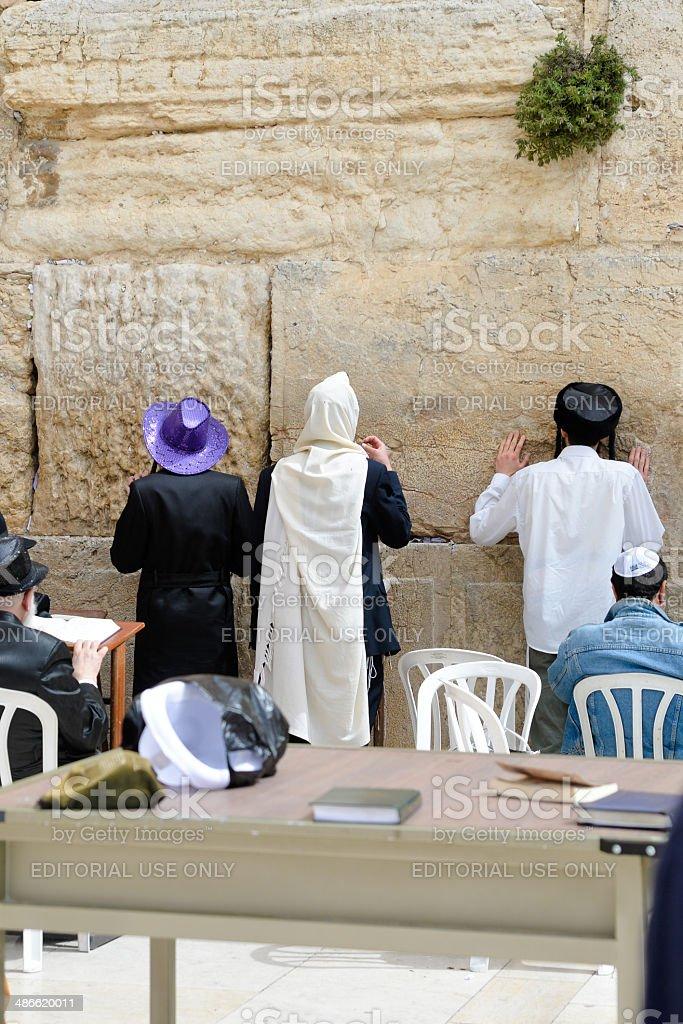 Purim at the Western Wall, Jerusalem stock photo
