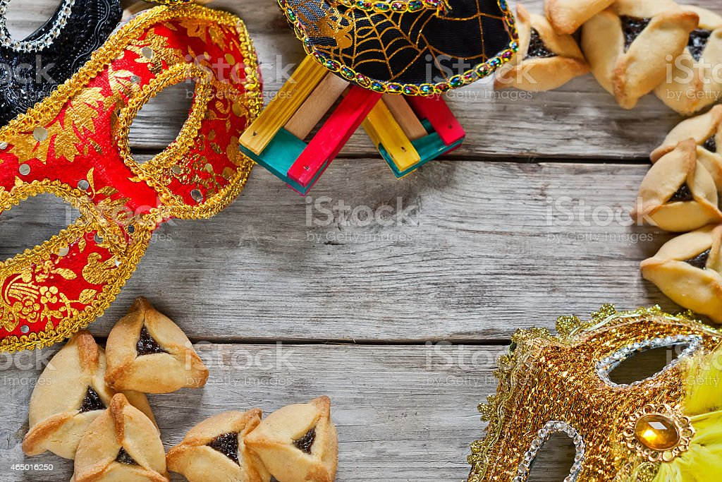 Purim background stock photo