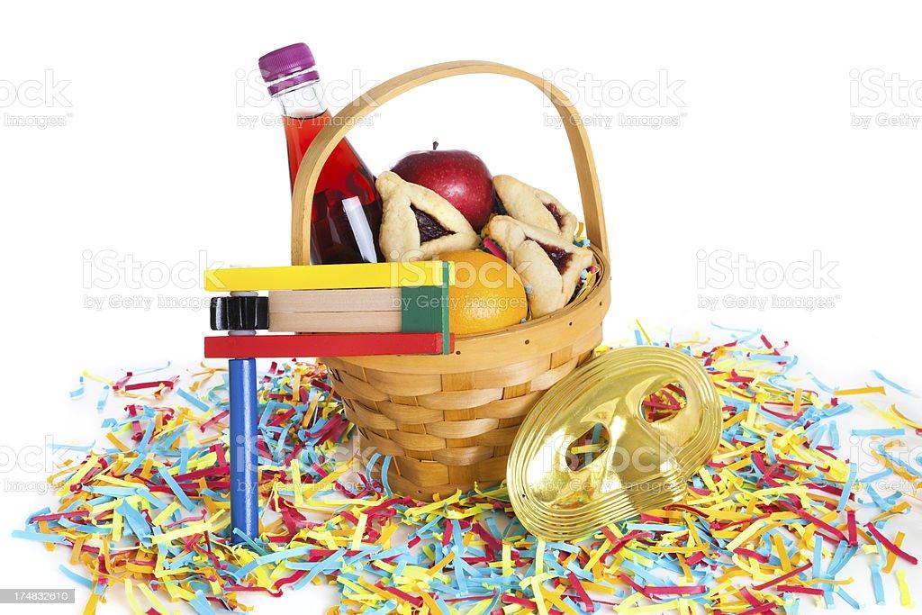 Purim basket royalty-free stock photo