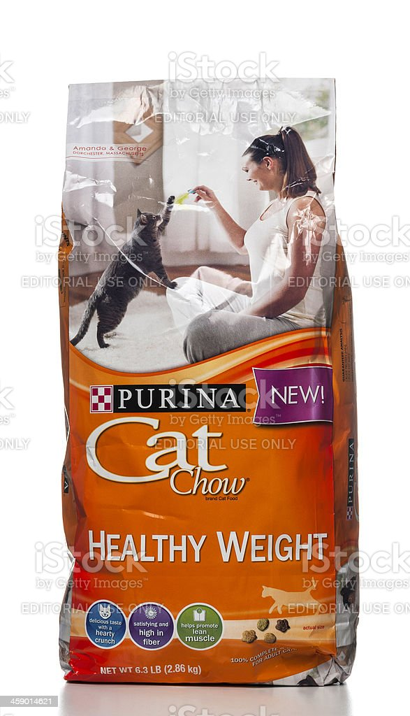 Purina Cat Chow Healthy Weight bag royalty-free stock photo