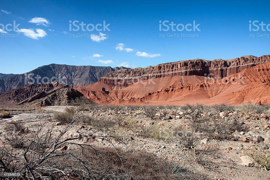 Purmamarca at Quebrada de Humahuaca, Argentina stock photo