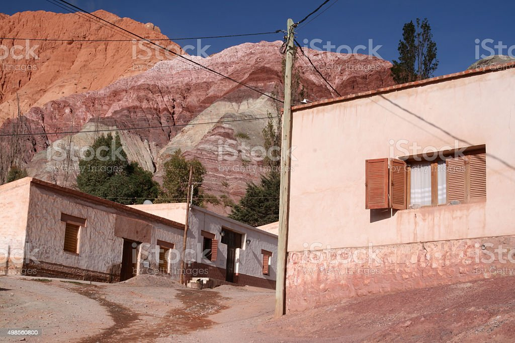 Purmamarca, Jujuy Province, Argentina stock photo