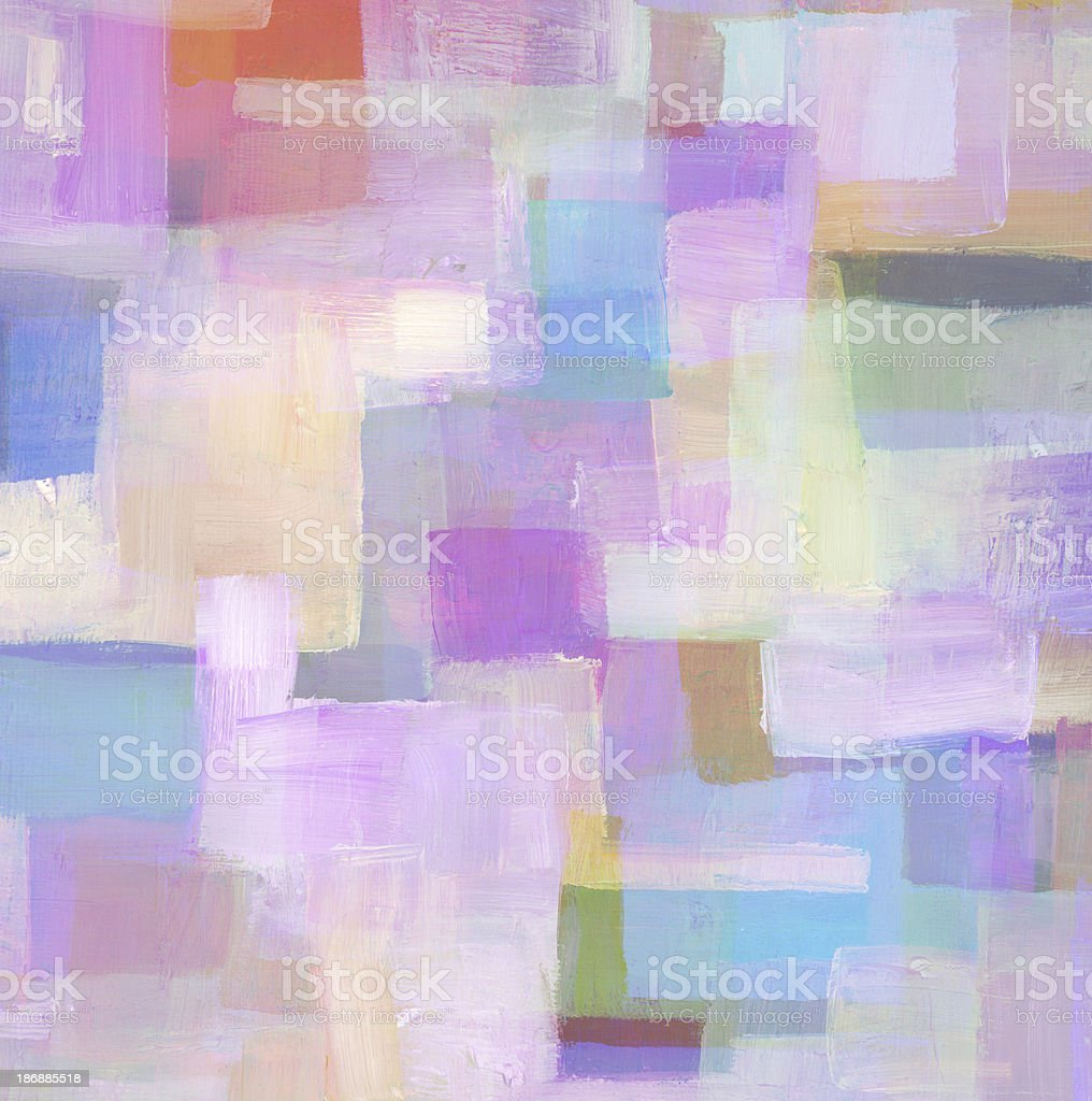 Purple Abstract Oil Painting royalty-free stock photo