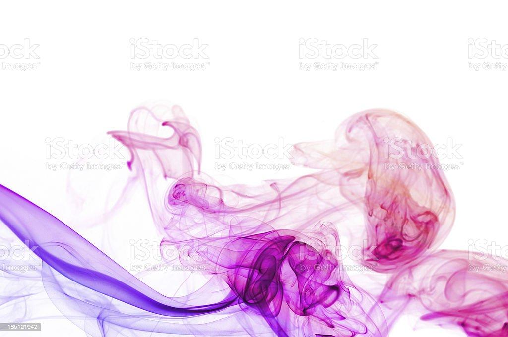 purple abstract smoke waves royalty-free stock photo