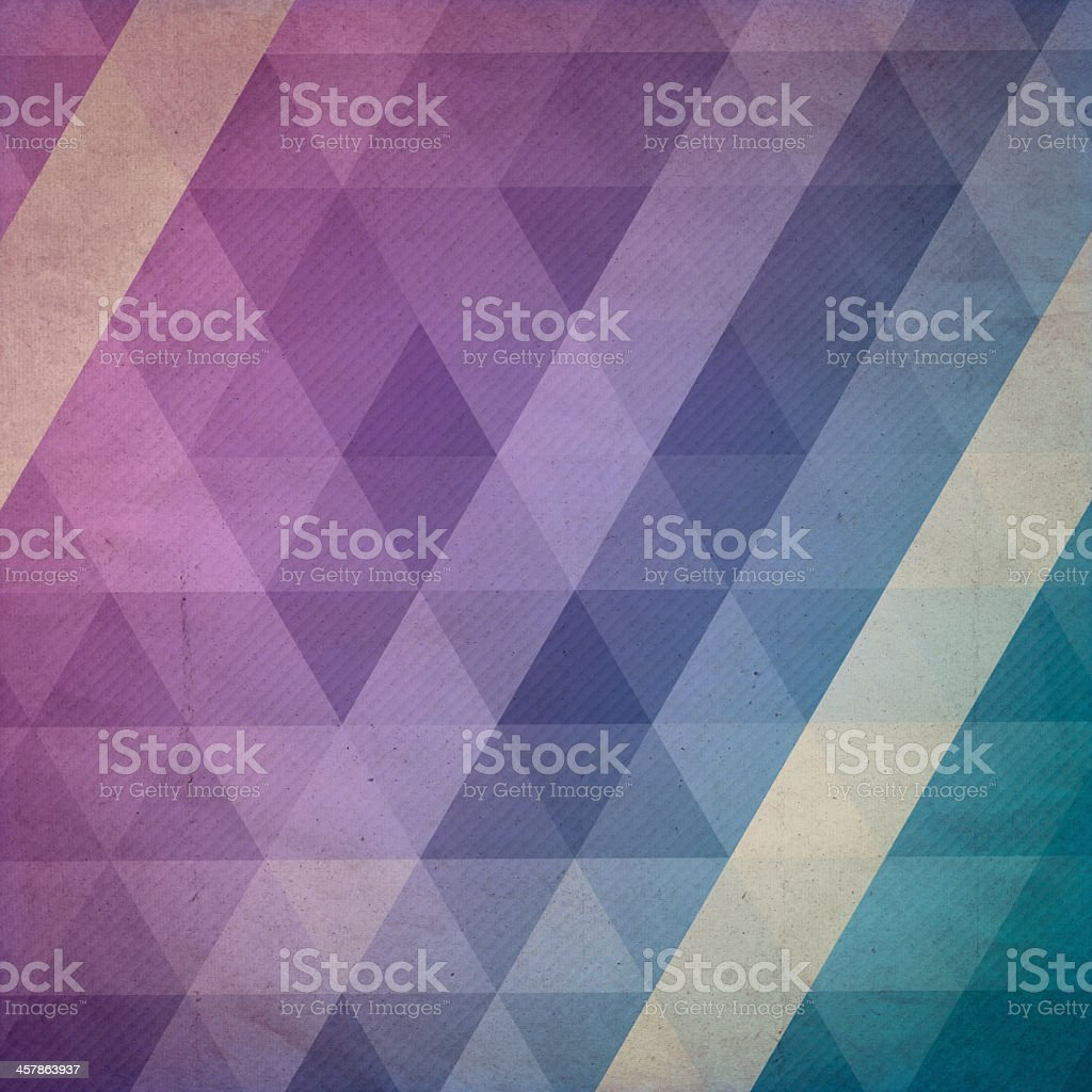 Purple and blue geometric pattern royalty-free stock photo