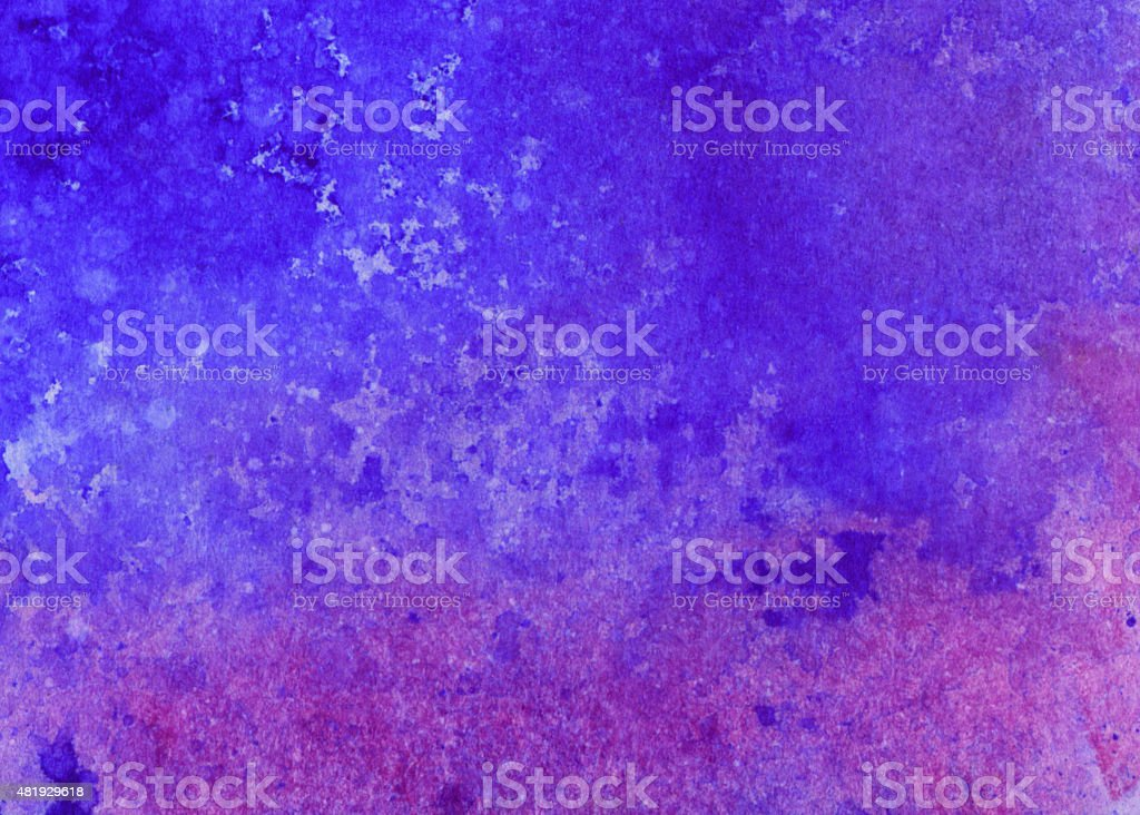 Purple and blue hand painted watercolor background with texture vector art illustration