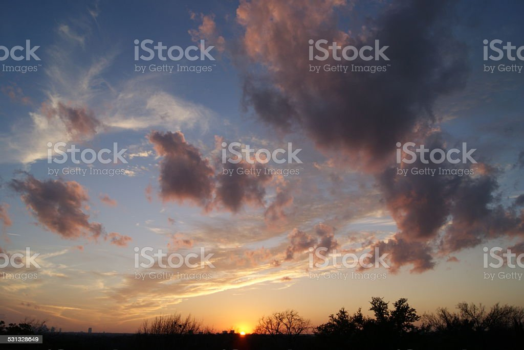 Purple and Clouds royalty-free stock photo