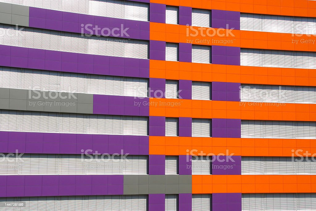 purple and orange building royalty-free stock photo