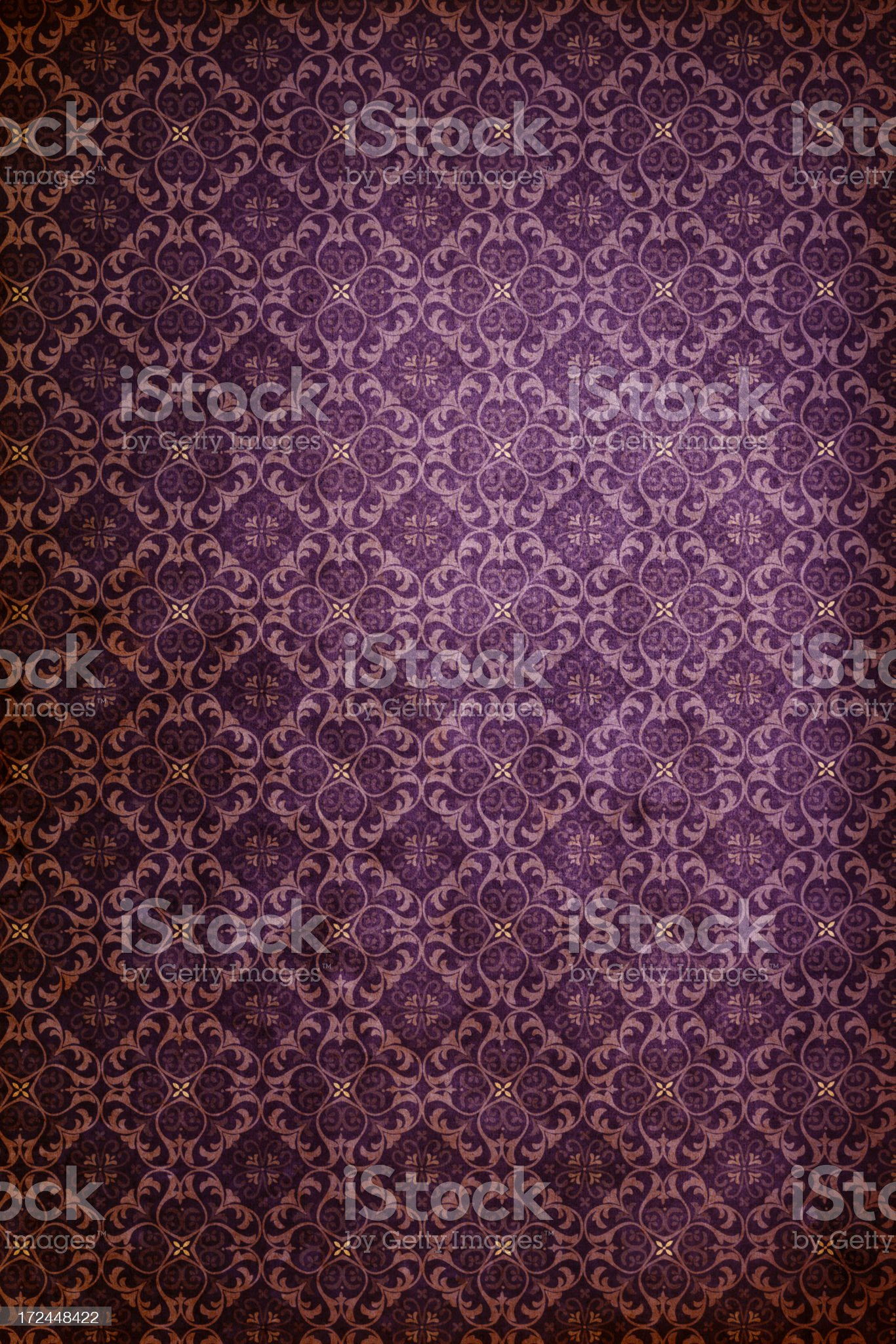 Purple Antique Wallpaper – Victorian Style royalty-free stock photo