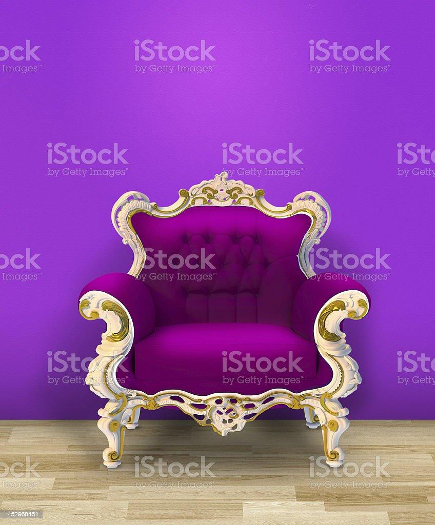 purple armchair royalty-free stock photo