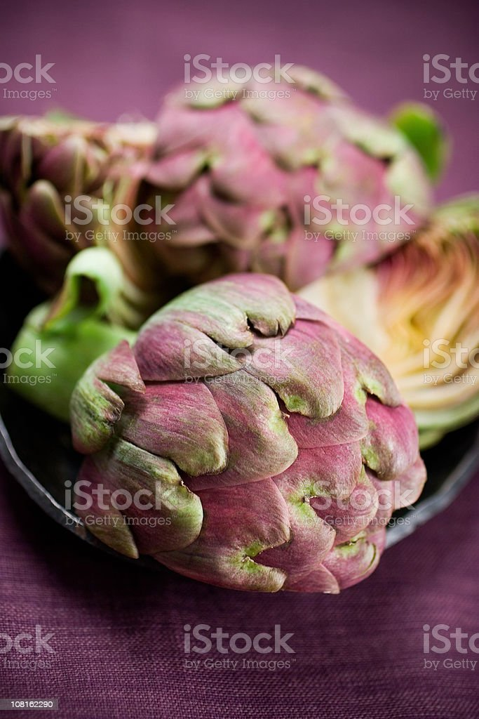 Purple Artichokes royalty-free stock photo