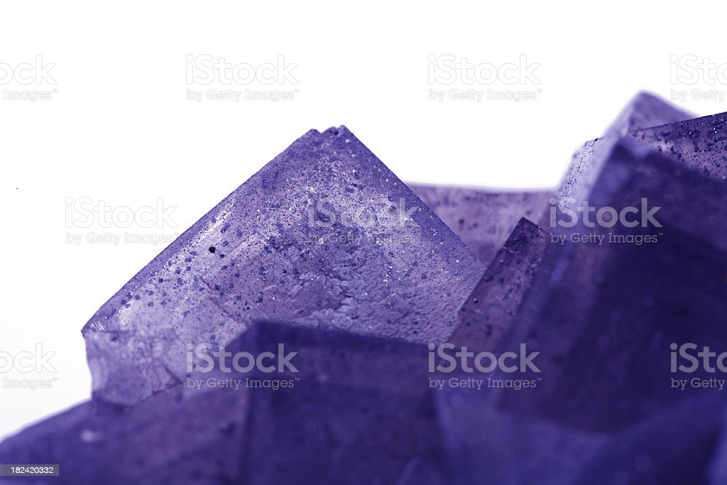 Purple Aventurine Fluorspar stock photo