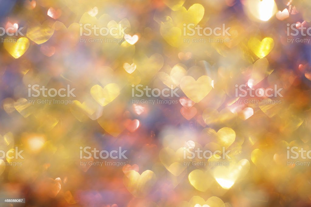purple background with hearts royalty-free stock photo