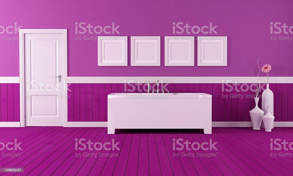 purple bathroom royalty-free stock photo