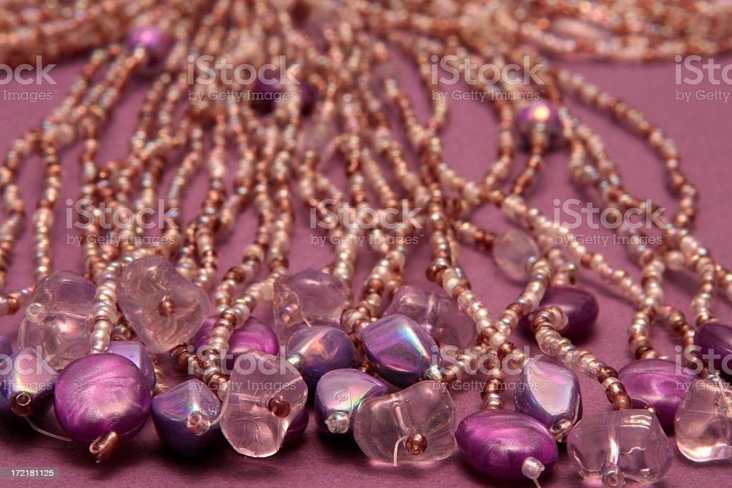 Purple Beads Macro royalty-free stock photo