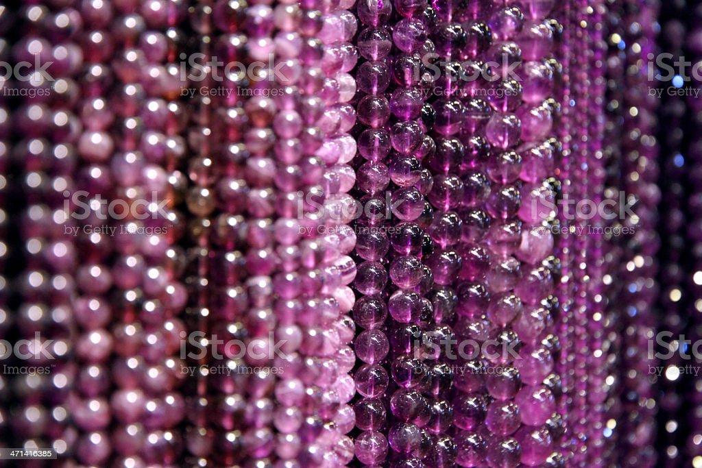 Purple Beads royalty-free stock photo